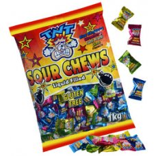 TNT Sour Chew Bags 150g Box 12