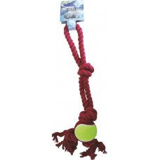 Toy Dog Rope Ball 45cm Pk