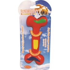 Toy Red Rubber Bone Pk