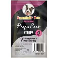Treat Pigs Ear Strips 4Pk
