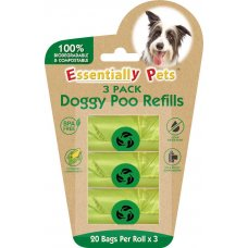 Poo Bags Compostable 20 bags 3 rolls
