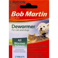 Bob Martin Cat & Dog Dewormer 2 Tabs