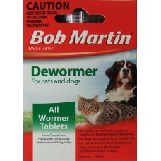 Bob Martin Cat & Dog Dewormer 4 Tabs