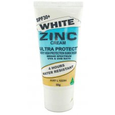 Ultra Protect White Zinc Cream 50g Tube SPF30 4Hr 6Pk
