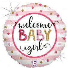 Baby Girl Stripes 18'' Round P1