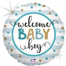 Baby Boy Stripes 18'' Round P1