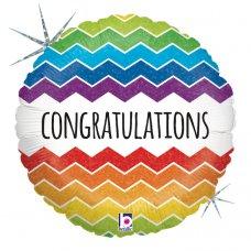 Chevron Congratulations Holographic 18