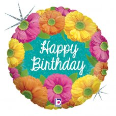 Bright Birthday Blooms Holographic 18