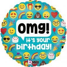 Emoji OMG Birthday 18