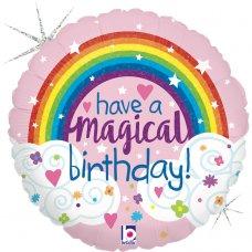 Glitter Magical Rainbow Birthday Holographic 18