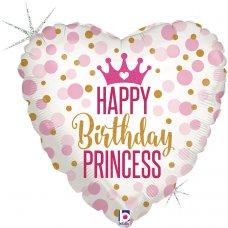 Glitter Birthday Princess Holographic 18