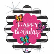 Radiant Butterfly Birthday Holographic 18