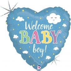 Welcome Baby Boy Holographic 18