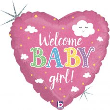 Welcome Baby Girl Holographic 18