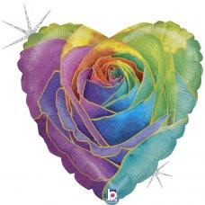 Rainbow Rose Glitter Holographic 18