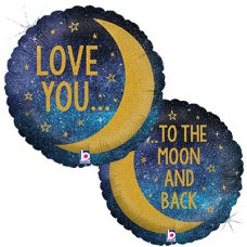 Moon & Back Glitter Holographic 18