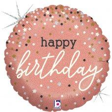 Rose Gold Confetti Birthday 18