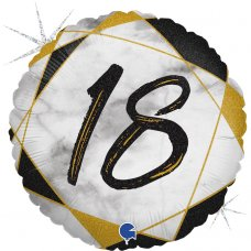 #18 Marble Black 18