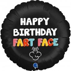 Happy Birthday Fart Face 18'' Round P1