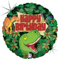 Dinosaur Birthday Holographic 18
