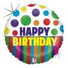 Happy Dots Birthday Stripes 18