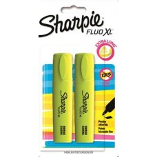Sharpie Highlighter Fluo XL Yellow Pack 2
