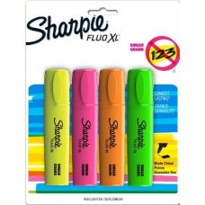 Sharpie Highlighter Fluo Xl Asstd Pack 4