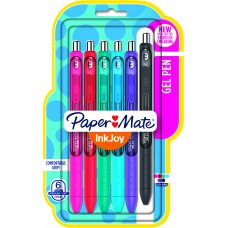 Papermate Inkjoy RT Gel Pen Assorted Pack 6