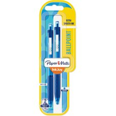 Papermate Inkjoy 300RT Ballpoint Blue Pack 2
