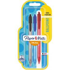 Papermate Inkjoy 100RT Ballpoint Pen Assorted Pack 3