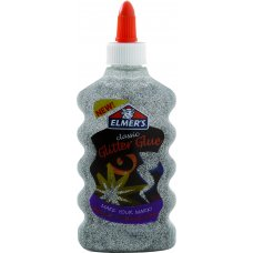 Elmer's Glitter Glue 177ml Silver Bottle