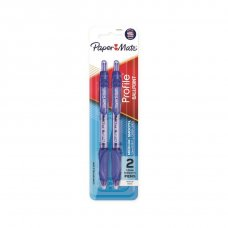 Papermate Profile RT Ballpoint Blue Pack 2
