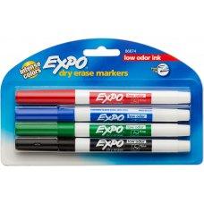 Expo Dry Erase Whiteboard Fine Tip Marker Asstd Pack 4