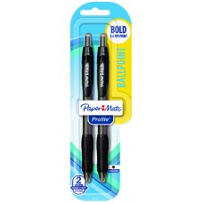Papermate Profile RT Ballpoint Black Pack 2