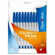 Papermate Inkjoy Kilometrico 100 Fashion Blue Pack 10