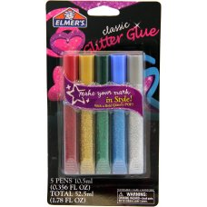 Elmers Glitter Glue Pens 10.5ml Pack 5