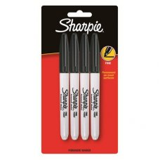 Sharpie Marker Fine Black Pack 4