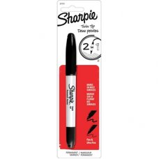 Sharpie Marker Twin Tip Black Pack 1