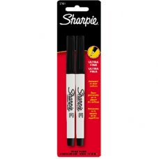 Sharpie Marker Ultra Fine Black Pack 2