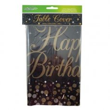 Sparkling Fizz Black Gold T/Cover Rect HBirthday P1