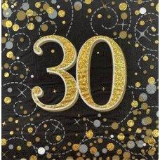 Sparkling Fizz Black Gold Napkin 33cm