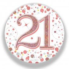 Badge 75mm Sparkling Fizz #21 Rose Gold Pack 1