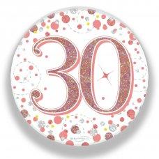 Badge 75mm Sparkling Fizz #30 Rose Gold Pack 1