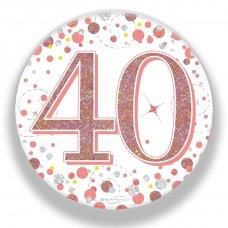 Badge 75mm Sparkling Fizz #40 Rose Gold Pack 1