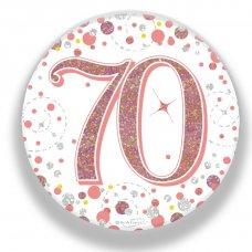 Badge 75mm Sparkling Fizz #70 Rose Gold Pack 1
