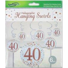 Hanging Swirl Sparkling Fizz #40 Rose Gold Pack 6