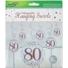 Hanging Swirl Sparkling Fizz #80 Rose Gold Pack 6