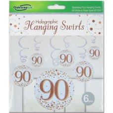 Hanging Swirl Sparkling Fizz #90 Rose Gold Pack 6