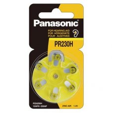 Hearing Aid Battery 230+ Yellow 1.4V - GST exempt 6pk